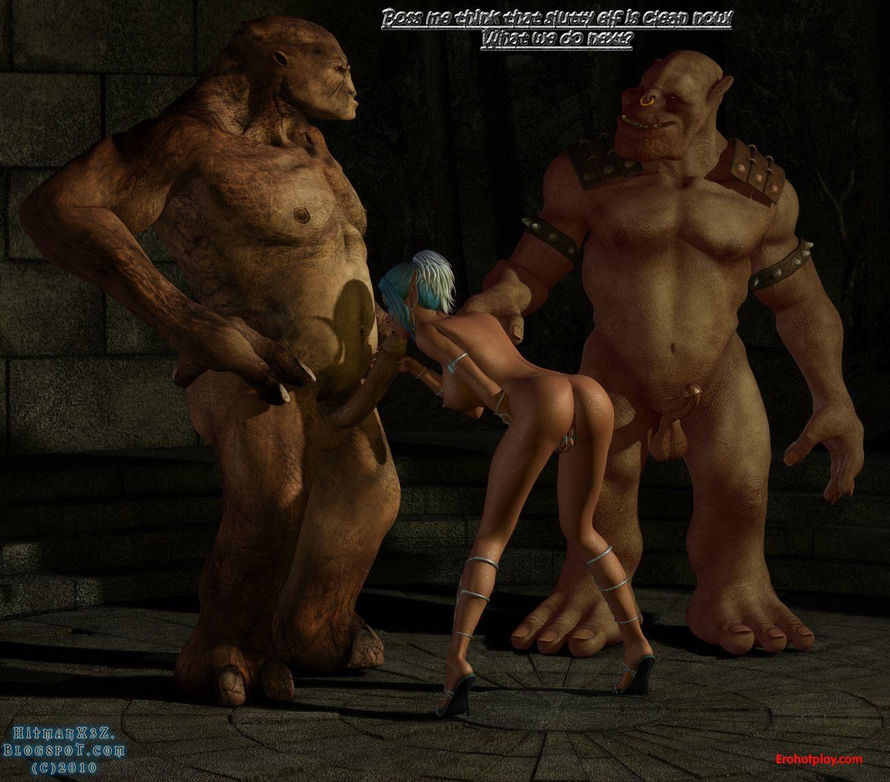 Похожие порно видео с Порно игра с сексуальными эльфийками