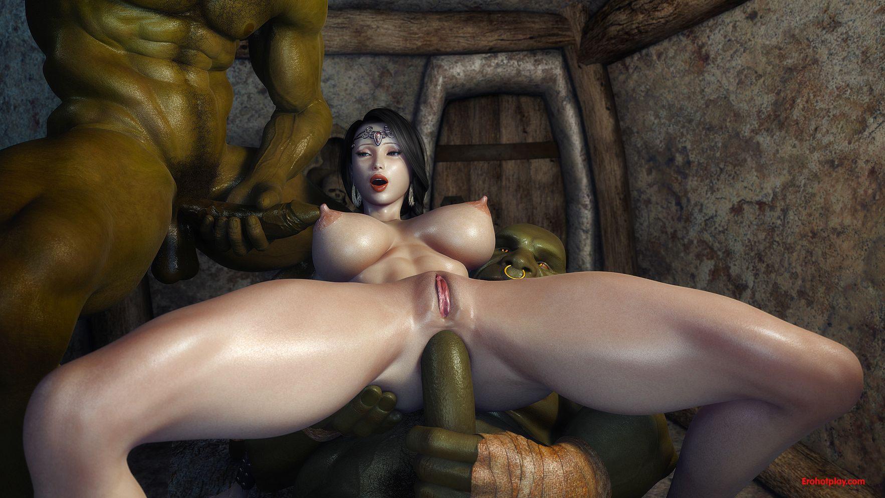 Порно Орки Насилуют