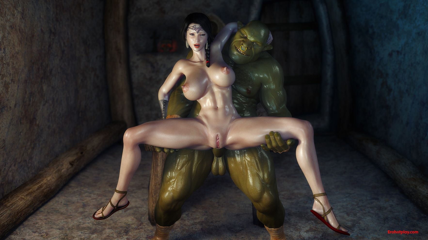 Ogre anime porn erotic video