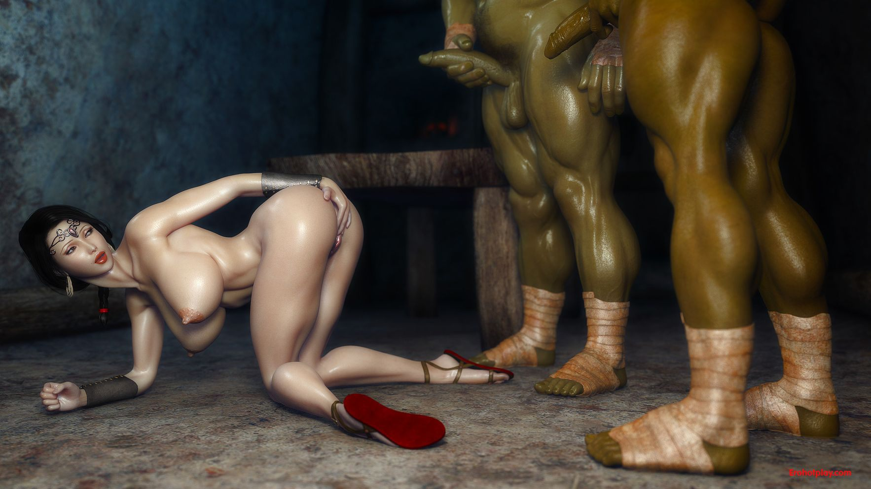 3d fairy babe getting fucked hard by a goblin 4