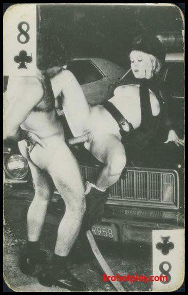Ретро черно белое порно игралные карты колоду