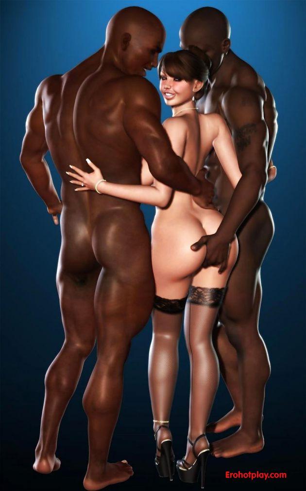 Рисованные порно картинки с черными фото 15-130