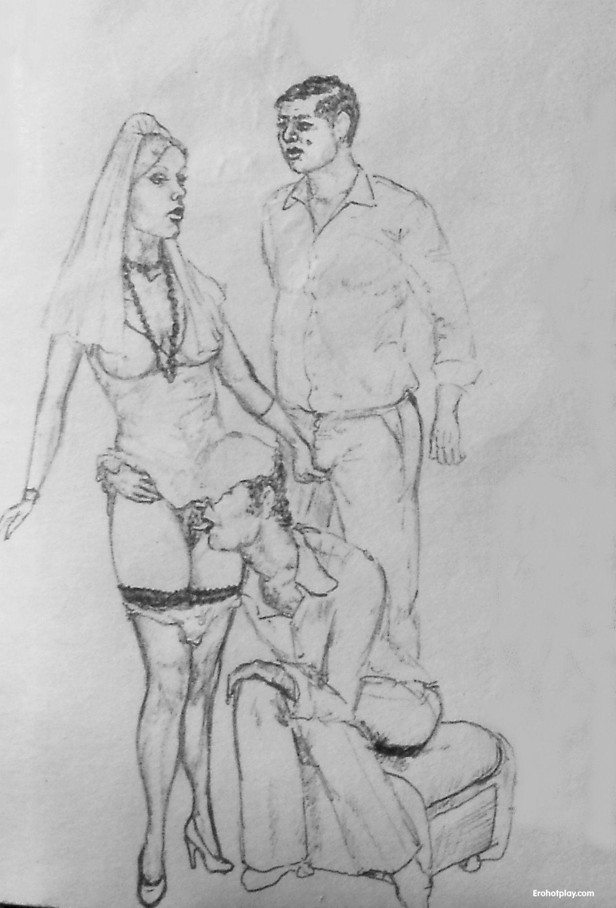 Карандашом порно рисунки
